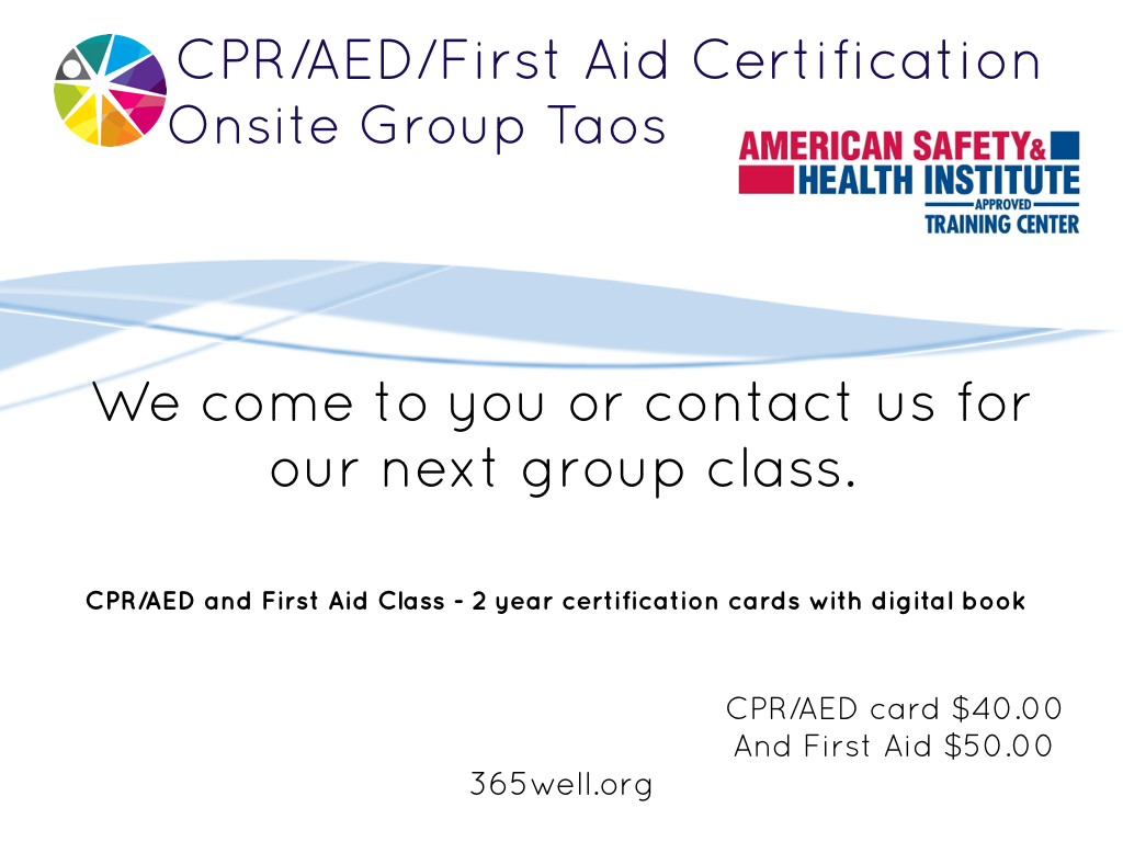 Onsite wellness 365well first aid cpr aed certification xflitez Gallery